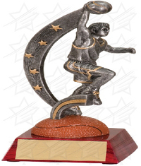 7 3/4 inch Male Basketball Action Star Resin