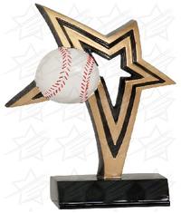7 inch Baseball Infinity Star Resin