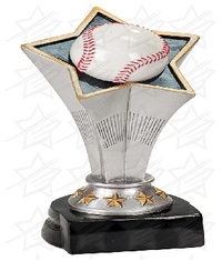 7 inch Baseball Rising Star Resin