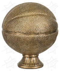 5 1/2 inch Antique Gold Basketball Resin