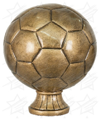 5 1/2 inch Antique Gold Soccer Ball Resin