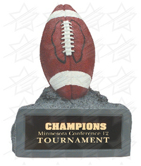 4 1/2 inch Color Football Resin