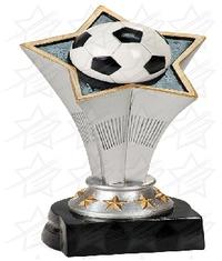 7 inch Soccer Rising Star Resin