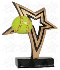7 inch Softball Infinity Star Resin