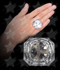 LED Princess Cut Diamond Bling Rings