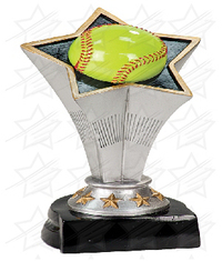 7 inch Softball Rising Star Resin