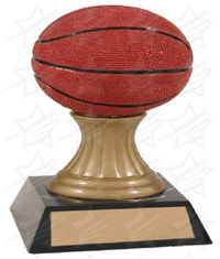 5 1/2 inch Color Basketball Gold Pedestal Resin