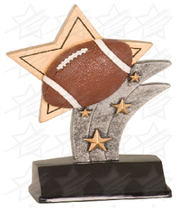 5 1/2 inch Football Sport Star Resin