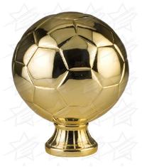 5 1/2 inch Gold Metallized Soccer Ball Resin