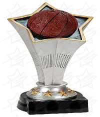 8 3/4 inch Basketball Rising Star Resin