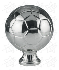 5 1/2 inch Silver Metallized Soccer Ball Resin