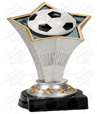 8 3/4 inch Soccer Rising Star Resin