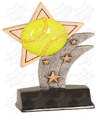 5 1/2 inch Softball Sport Star Resin