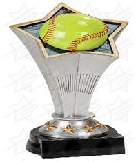 8 3/4 inch Softball Rising Star Resin