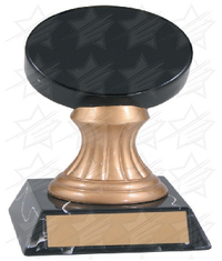 5 1/4 inch Color Hockey Puck Gold Pedestal Resin