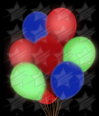 LED 14 Inch Blinky Balloons - Multicolor
