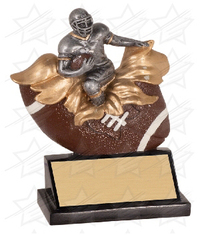5 1/4 inch Male Football Xploding Resin
