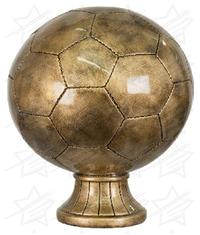10 1/2 inch Antique Gold Soccer Ball Resin