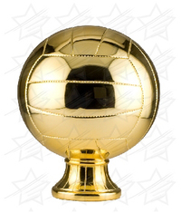 10 1/2 inch Gold Metallized Volleyball Resin