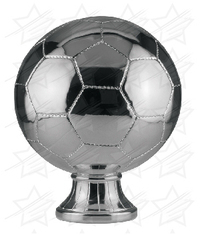 10 1/2 inch Silver Metallized Soccer Ball Resin
