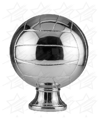 10 1/2 inch Silver Metallized Volleyball Resin