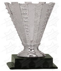 12 1/2 inch Silver Completed Crown Cup Resin