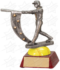 6 1/2 inch Softball Action Star Resin