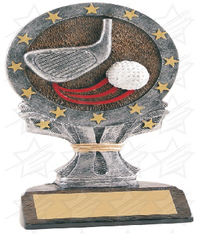 6 1/4 inch Golf All Star Resin
