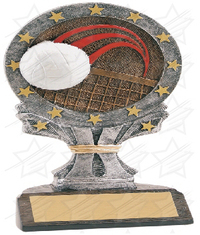 6 1/4 inch Volleyball All Star Resin