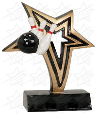 6 inch Bowling Infinity Star Resin