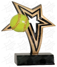 6 inch Softball Infinity Star Resin