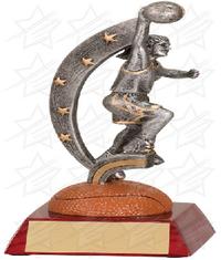 7 1/2 inch Female Basketball Action Star Resin