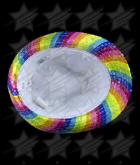 BLANK LED Rainbow Sequin Fedora
