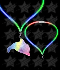 BLANK LED Flashing Lanyard - Dolphin