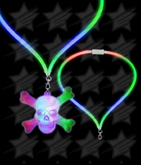 BLANK LED Flashing Lanyard - Skull and Crossbones