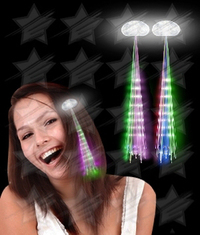 BLANK LED Hair Extensions - Assorted