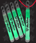 BLANK 4 Inch Premium Glow Sticks - Green