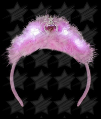 BLANK LED Feather Tiara Headband