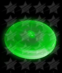 BLANK LED Flying Disc 8 Inch - Green