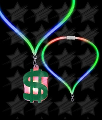 BLANK LED Flashing Lanyard - Dollar Sign
