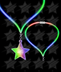 BLANK LED Flashing Lanyard - Star