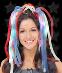 BLANK LED Party Dreads - Red White Blue