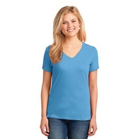 Port & Company Ladies Core Cotton V-Neck Tee.