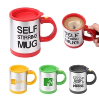 Self-Stirring Stainless Steel Travel Coffee/Tea Mug