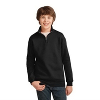 JERZEES Youth NuBlend 1/4-Zip Cadet Collar Sweatshirt.