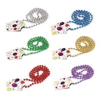 "33"" Classic Metallic Party Mardi Gras Bead Necklace"