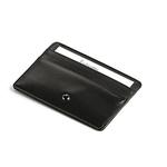 Credit Card Holder, Shiny Black Leather