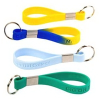 Silicone Keychain Debossed