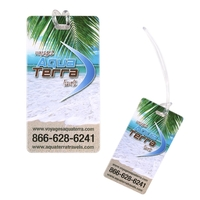Soft PVC Travel Vacation Baggage Luggage Tag with Strap