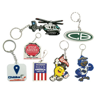 9 Square inch Custom PVC Key Tags
